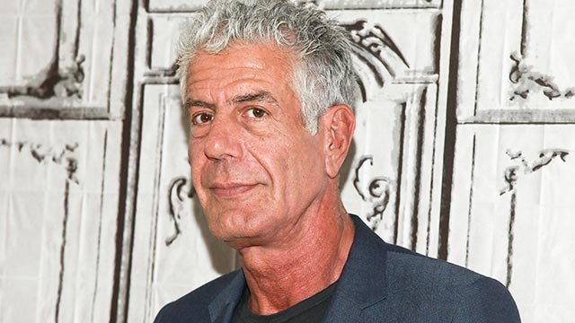 """Anthony Bourdain participates in the BUILD Speaker Series to discuss the online film series """"Raw Craft"""" at AOL Studios on Wednesday, Nov. 2, 2016, in New York. (Photo by Andy Kropa/Invision/AP)"""
