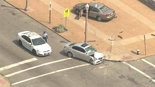A driver was killed and two others were injured in a hit-and-run accident in South City Friday afternoon. Credit: KMOV