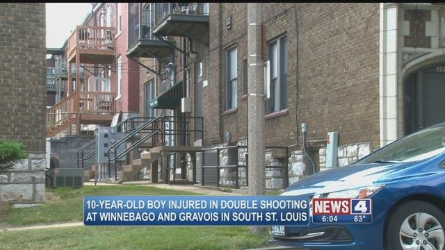 Police are investigating following the shooting of a 10-year-old boy and a 32-year-old woman that occurred in South City. (Credit: KMOV)