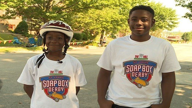 A decades old tradition rolled through the streets of The Hill neighborhood Sunday. This year's St. Louis Soap Box Derby was extra special for a pair of brothers. (Credit: KMOV)
