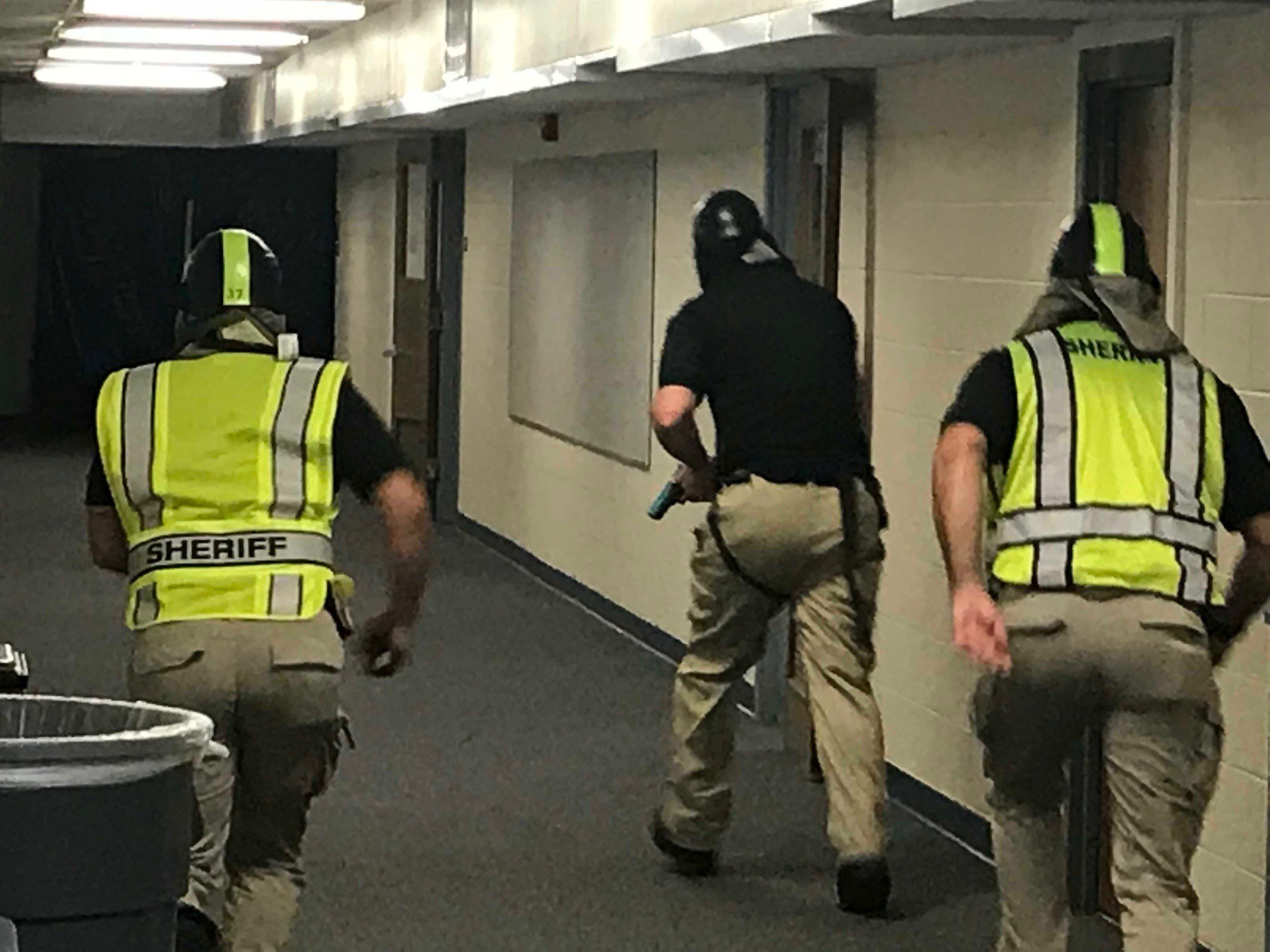 Jefferson County Sheriff's Department deputies received active shooter training in which they learned to confront the shooter alone.