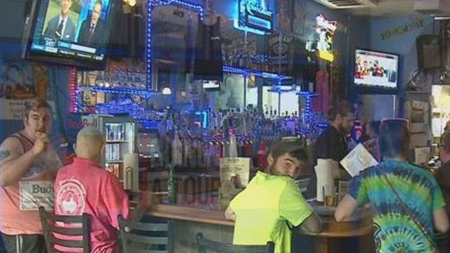 Bar patrons on Main Street in St. Charles (Credit: KMOV)