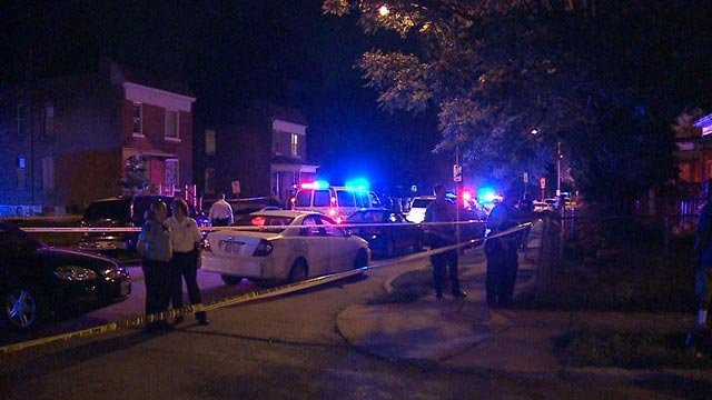 Police on Clara and Theodosia after a man was killed Wednesday (Credit: KMOV)