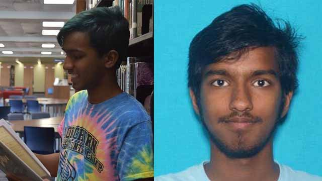 Authorities said they are looking for 17-year-old Haran Kumar. He suffers from depression and police say he is suicidal. Credit: Chesterfield PD