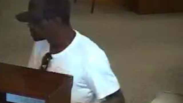 Police are searching for a suspect who robbed a First Bank branch in Chesterfield on Thursday. Credit: Chesterfield PD
