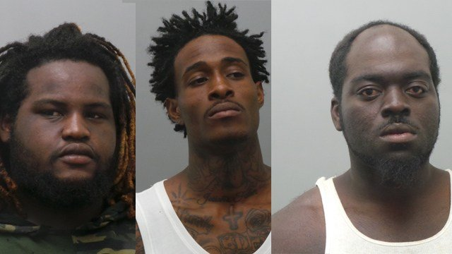 From Left:  Jahma Swaningan, Jody Dale, and  Eddie Price were accused of assault.