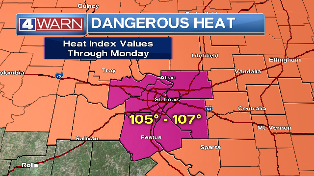 Heat advisory issued for St. Louis metro this weekend