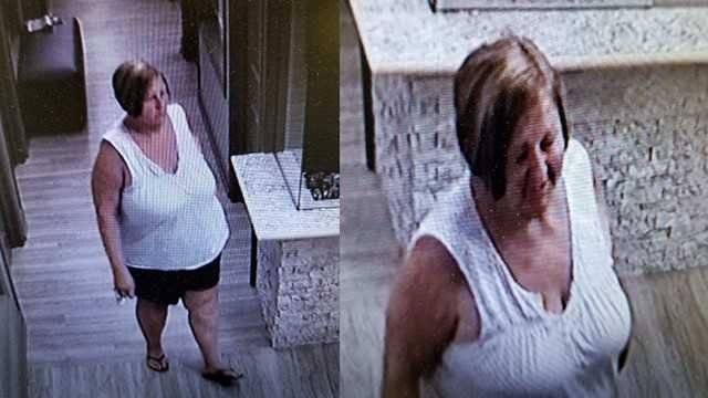 Police say this woman received a color treatment and a hair cut at a West County salon and did not pay. Credit: Town and Country PD