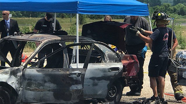 The body was too badly burned to be identified, officials said. (Credit: KMOV)