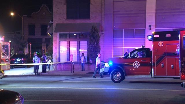 Emergency crews outside The Olive Bar after a deadly shooting (Credit: KMOV)