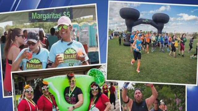 Images of people participating in the Margarita Madness 5K (Credit: Margarita Madness 5K)