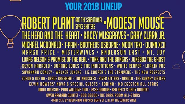 The 2018 LouFest lineup (Credit: LouFest)
