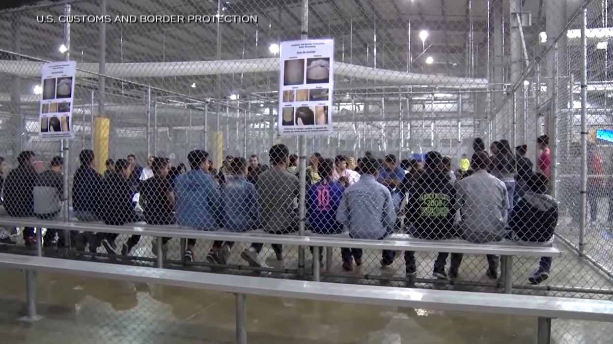 An immigrant detention center. Credit: CBP