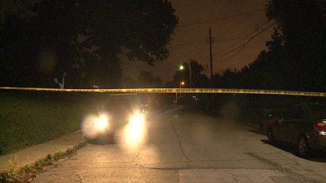 Crime Scene tape in Wellston after a homicide (Credit: KMOV)