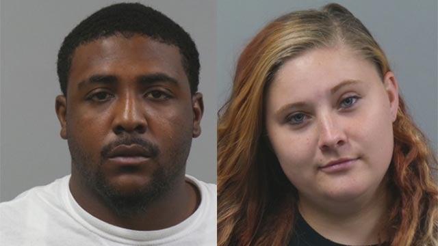 Chloeann Gehner, 23, and Kenyon Owens, 23, are accused of robbing a victim at Deer Creek Park in Maplewood (Credit: Maplewood police)