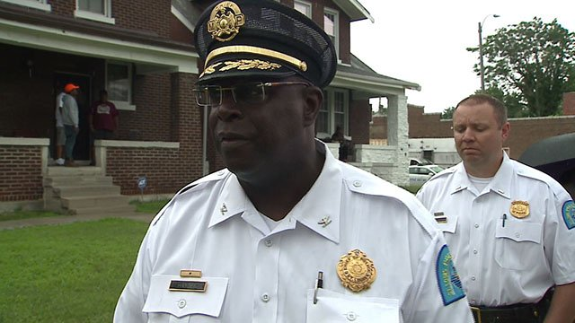 St. Louis Police Chief John Hayden took to the streets in the Kingsway West neighborhood to stick to his commitment to the community (Credit: KMOV)