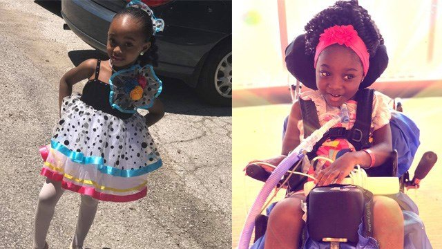 Sariah Johnson is confined to a wheelchair, paralyzed and dependent on a breathing machine after a school bus accident. (Credit: Johnson family)
