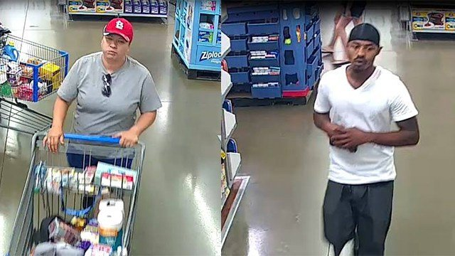 Manchester police are requesting help identifying these two suspects. (Credit: Manchester PD)