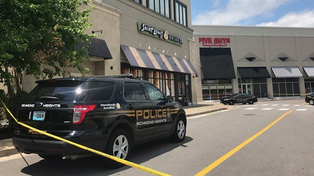 Richmond Heights police have denied the reports of a shooting outside Galleria mall. They said there was one person stabbed. (Credit: KMOV)