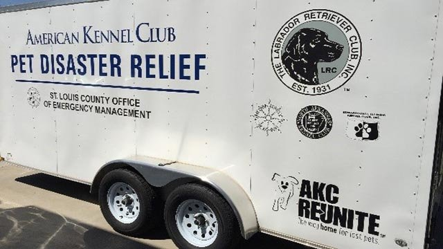 The American Kennel Club Pet Disaster Relief trailer (Credit: St. Louis County Office of Emergency Management)