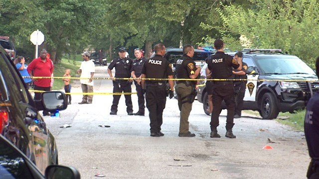 Police were on the scene of a triple shooting in Cahokia Monday. (Credit: KMOV)