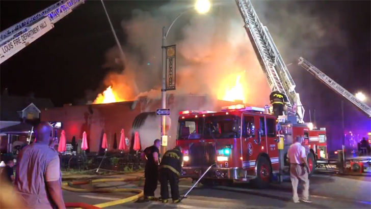 Macklind Avenue Deli Fire, Courtesy: St. Louis Fire Dept.