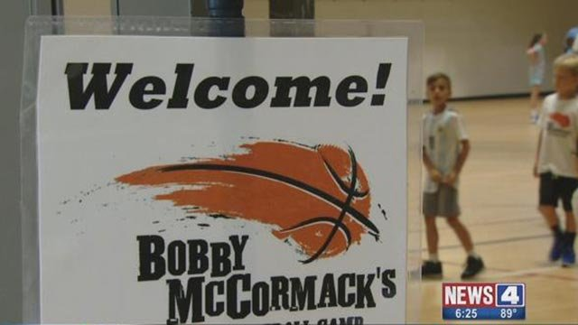 Bobby McCormack's basketball camp sign (Credit: KMOV)