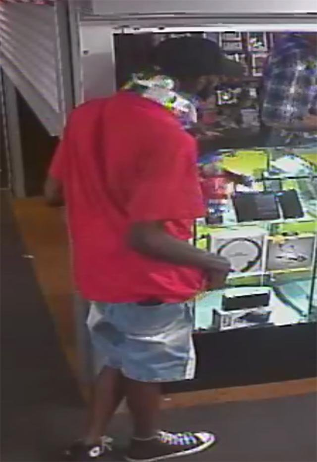 Surveillance photo of shooting suspect (Credit: North County Police Cooperative)