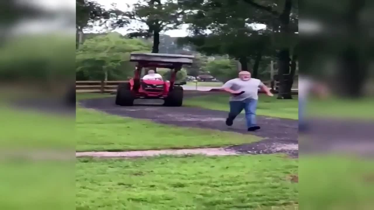 Video shows Florida man, 72, trying to attack neighbor with tractor