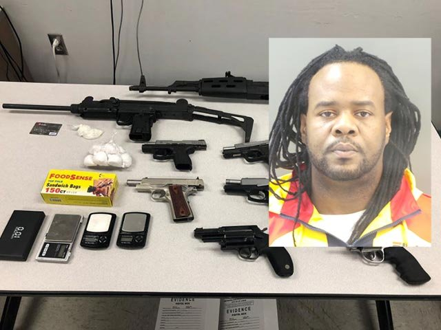 Hayward McKinney, 39, was charged with 10 counts of unlawful possession of a firearm (Credit: St. Louis Police Department)