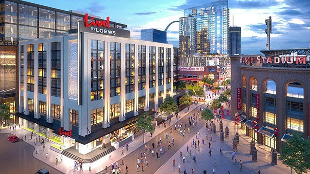 Rendering of the Live! by Loews hotel expected to open in Ballpark Village in early 2020. (Credit: Loews Hotels & Co)