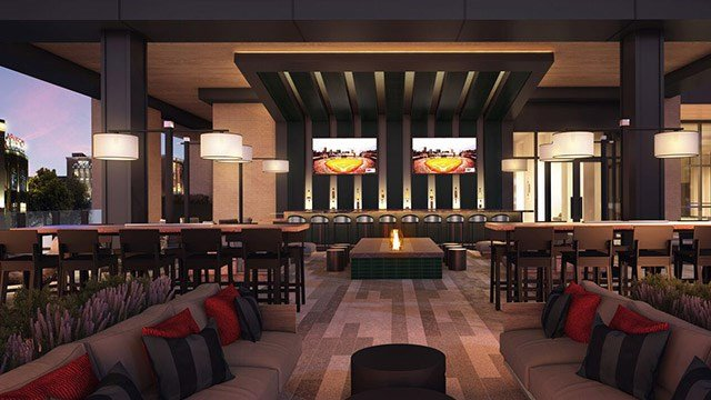 Rendering of the Live! by Loews hotel bourbon bar expected to open in Ballpark Village in early 2020. (Credit: Loews Hotels & Co)