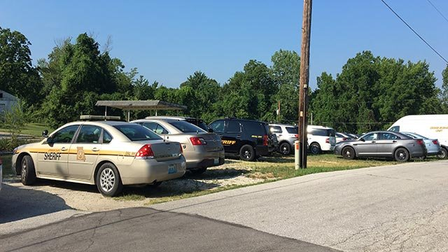 Police vehicles parked near a home in the 8400 block of East View in Cedar Hill (Credit: Emily Pritchard / News 4)