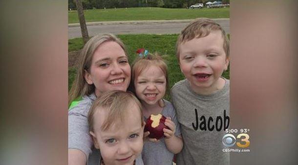 Julie Edwards and her three children  CBS PHILADELPHIA