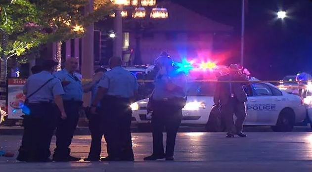 Scene of the shooting at North Euclid and Maryland. (KMOV)