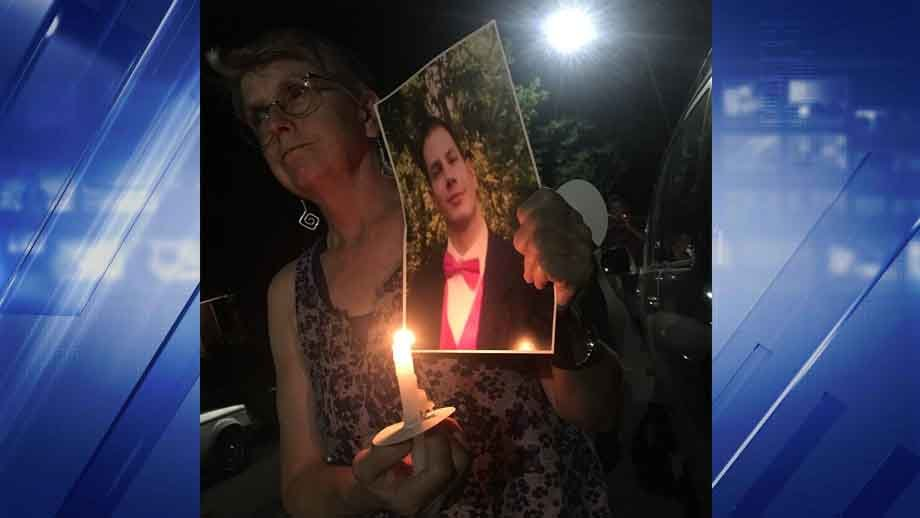 A vigil was held Thursday for Dave Matthews. Credit: KMOV