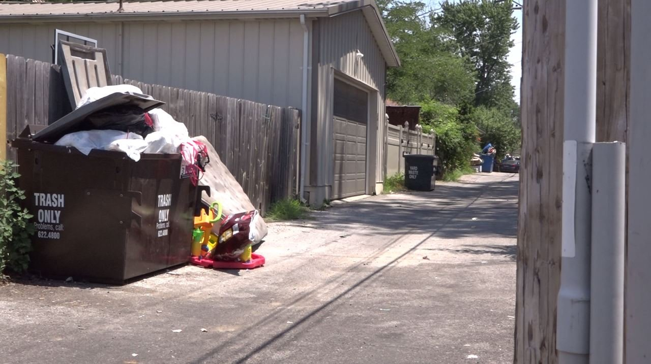 Tower Grove South residents said their trash has not been picked up in two weeks. (Credit: KMOV)