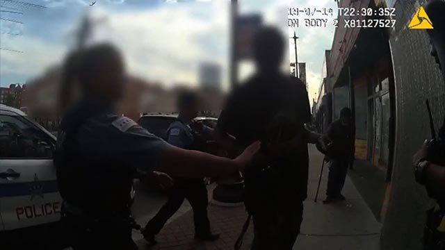 Footage from an officer's body camera showing what took place when Harith Augustus 37 was shot and killed