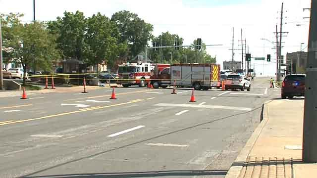 Crews at the scene of Manchester and Big Bend. Credit: KMOV