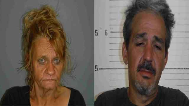 Lori Stegall, 52, and Timothy Graber, 45, of Fairview Heights, are charged with burglary. Credit: St. Clair County Sheriff