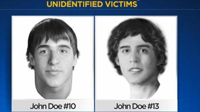 National Center for Missing & Exploited Children and Cook County Sheriff's Office released these reconstructions on July 23, 2017 of what two unidentified John Wayne Gacy victims might have looked like  (Credit: National Center for Missing & Exploited Chi