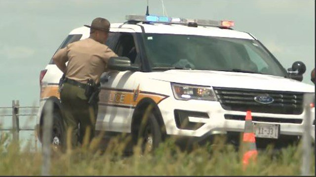 An ISP trooper was seriously injured in a crash on I-55 Monday. (Credit: KMOV)