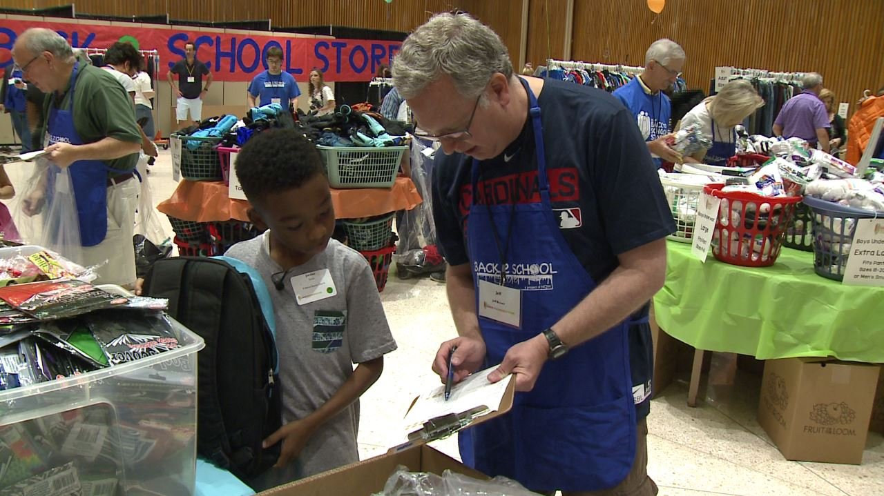 Children headed back to school got to stock up on supplies thanks to the National Council of Jewish Women on Sunday. (Credit: KMOV)