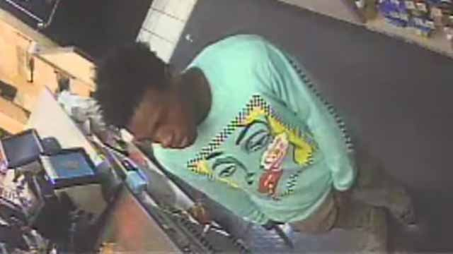 Police say this man robbed the ZX gas station in the 7400 block of West Main Street on Monday. Credit: Belleville PD