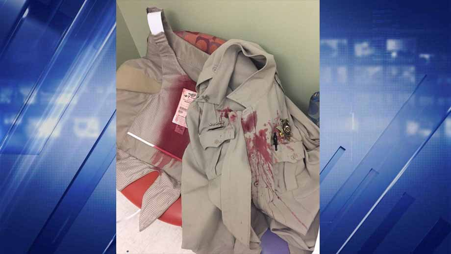 The uniform of the deputy who was attacked. Credit: Jefferson County Sheriff