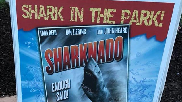 Advertisement for Shark in the Park at Six Flags St. Louis (Credit: Nick Zervos / News 4)
