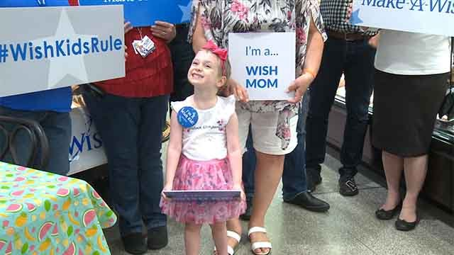 Dani, 4, was diagnosed with cancer just two days after her fourth birthday. Credit: KMOV