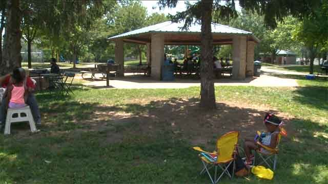 """A """"Stop the Violence"""" rally was held in Castle Point Park in North County on Saturday. Credit: KMOV"""