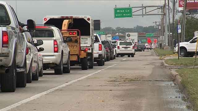 Many who attended the PGA Championship practice round on Tuesday say they sat in traffic for a long period of time before they could park at the Fenton Logistics Park. Credit: KMOV