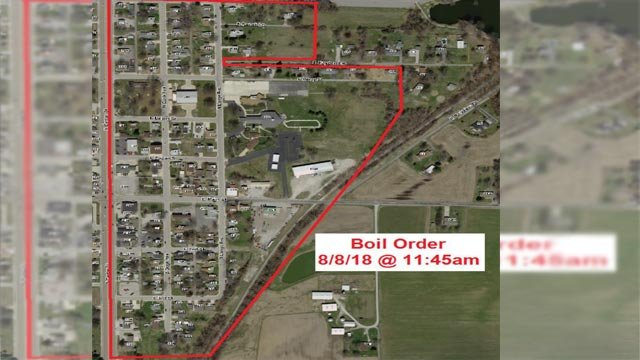 Map of Aug. 8, 2018 boil order in Maryville